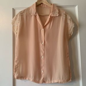 Vintage Blouse with Embroidered Detail
